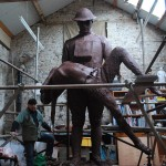 James Butler RA, Sculptor, working in Studio