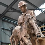Raw Bronze Statue before patination