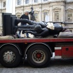 Statue in Transit to Royal Academy