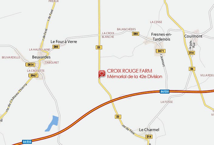 Map of Croix Rouge Farm